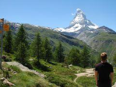 Wandeltrektocht in Zwitserland Wallis: uitzicht op de Matterhorn