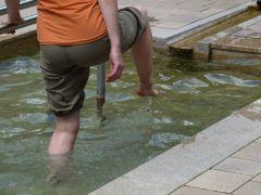 Teutoburgerwoud: Wassertretbecken, heerlijk voor de voeten
