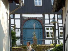 Teutoburgerwoud: Vakwerkhuis in Tecklenburg