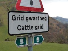 Offa's Dyke Path: waarschuwing voor een cattle grid