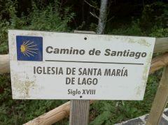 Info bord op de Camino Primitivo