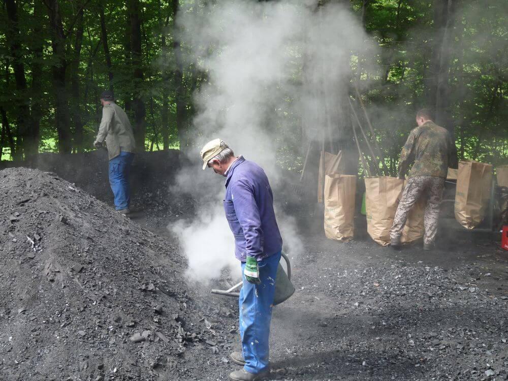 houtskool maken